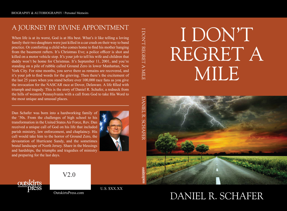 """Book Cover Forros Usa ~ """"i don t regret a mile book by chap dan schafer"""