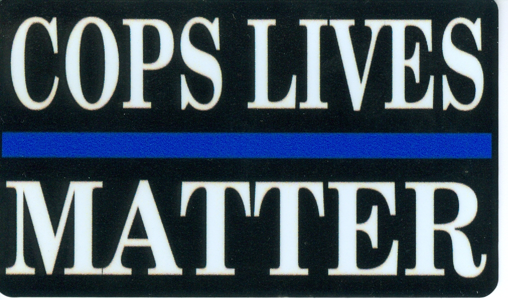 Cops Lives Matter Sticker 3x5