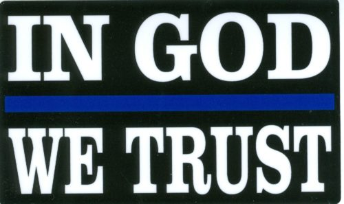 In God We Trust Sticker 3x5