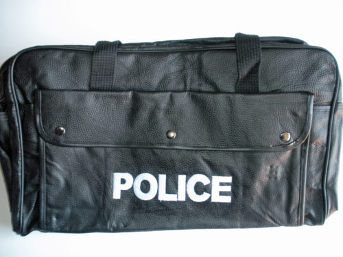 Police Leather Gear Bag 22x12 inches
